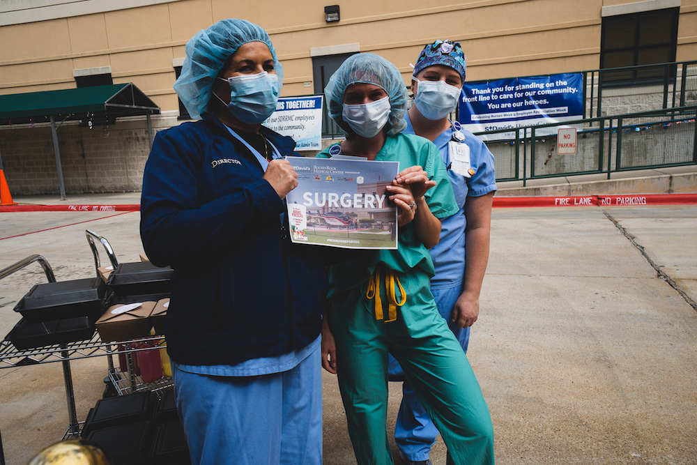 LP Teams Up To Serve 500 medical staff at St. David's Round Rock Medical Center – May 6, 2020