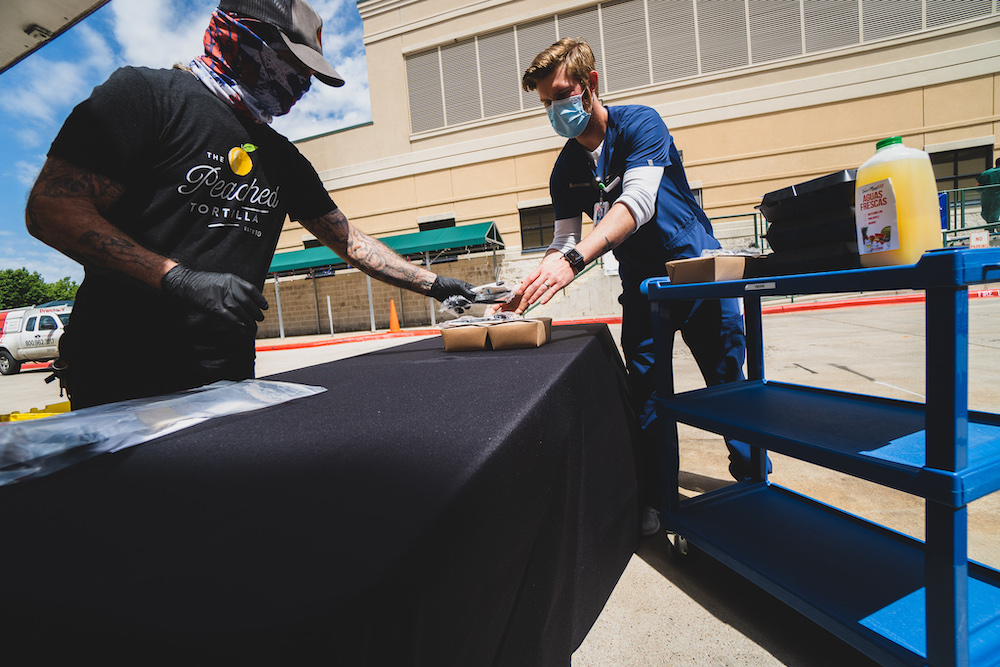 AvantGarde, LaunchPad, and TacoMan512 team up to serve over 500 first responders at Dell Children's Medical Center – April 23, 2020